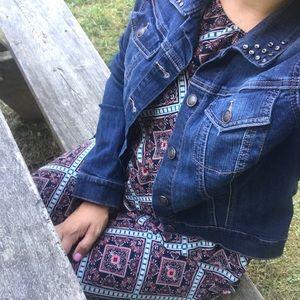 Jessica Simpson jean jacket L